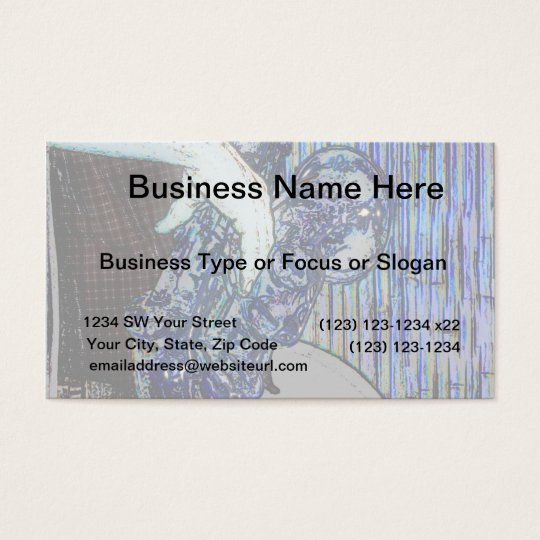 sax and hand blue poster edges music design business card