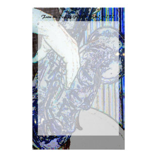 sax and hand blue poster edges music design stationery