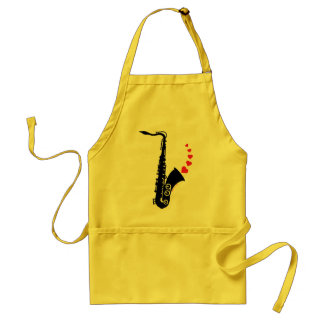 Sax and Love Adult Apron