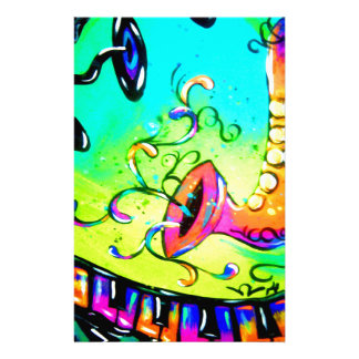 Sax and Music Tree Stationery