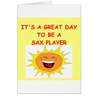 SAX CARD