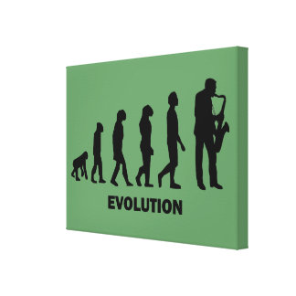 sax evolution canvas print