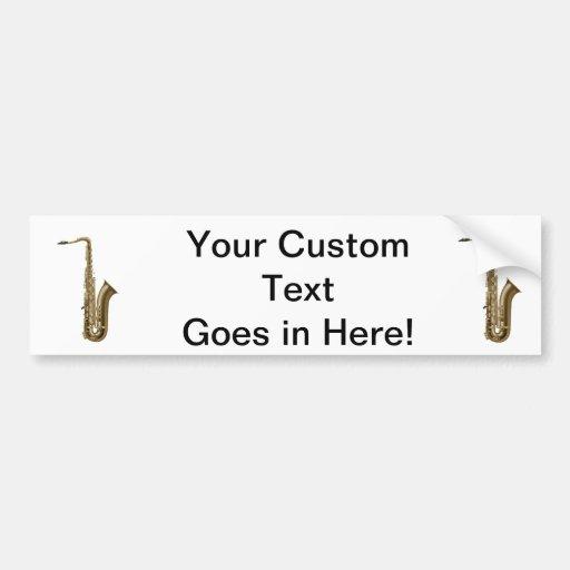 Sax facing right graphic bumper stickers