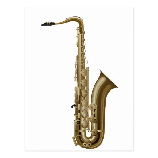 Sax facing right graphic post cards