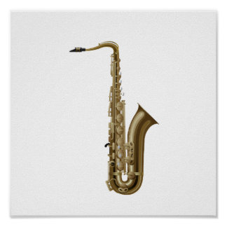 Sax facing right graphic print