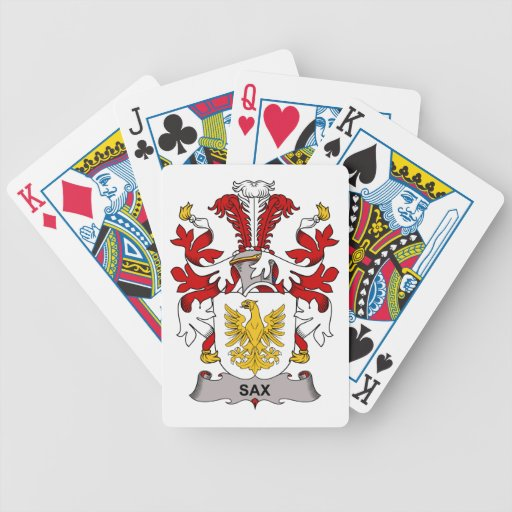 Sax Family Crest Bicycle Playing Cards
