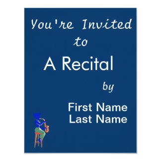 sax female sitting player abstract blue.png 4.25x5.5 paper invitation card