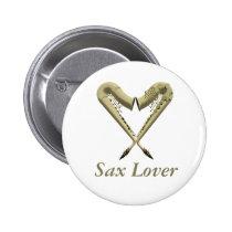 Sax Lover Button Badge at Zazzle