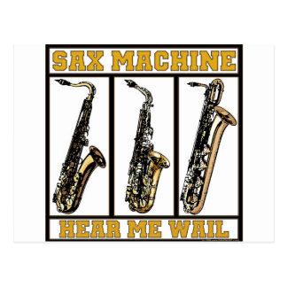 Sax Machine Postcard