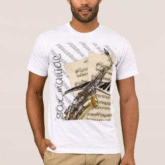 Sax Maniac Funny Music Design T-Shirt