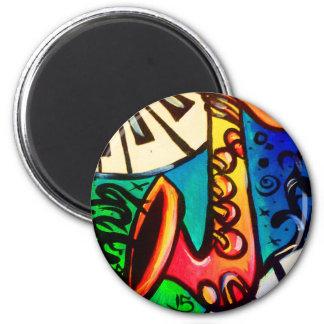 Sax Music Art Magnet