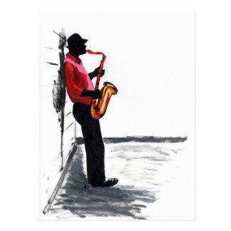 Sax Player 1 Postcard