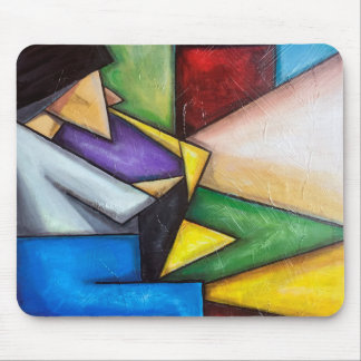 Sax player abstract painting on mouse pad