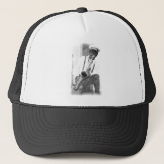 Sax Player by Hart Trucker Hat
