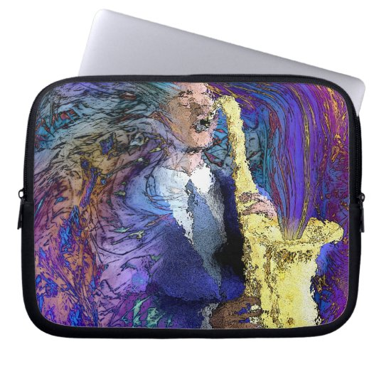 Sax Player laptop sleeve