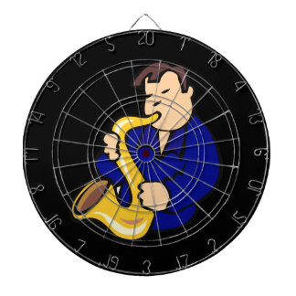 sax player man abstract blue.png dartboard