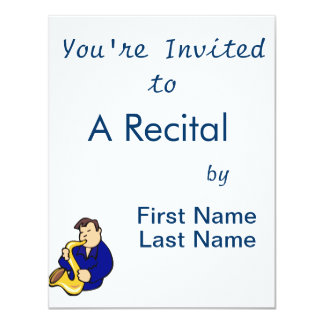 sax player man abstract blue.png 4.25x5.5 paper invitation card