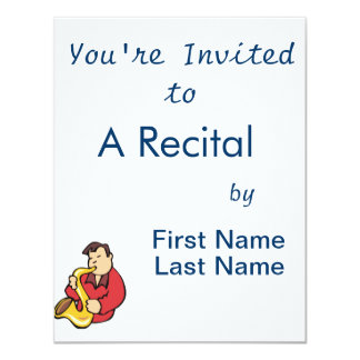 sax player man abstract red.png 4.25x5.5 paper invitation card
