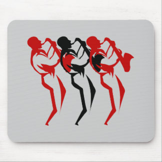 Sax player mouse pad