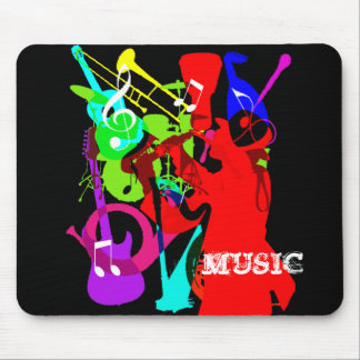Sax Player Musical Instrument Medley Music Graphic Mouse Pad