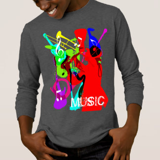 Sax Player Musical Instrument Medley Music Graphic T-Shirt