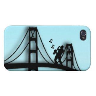 Sax Player on Bridge 4s iPhone 4/4S Case