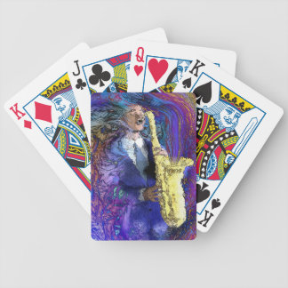 Sax Player playing cards