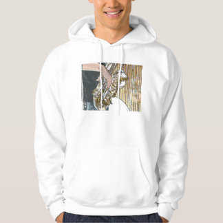sax player posterized saxophone golden hoodie