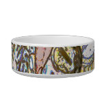 sax player posterized saxophone golden cat food bowls