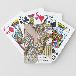 sax player posterized saxophone golden card deck