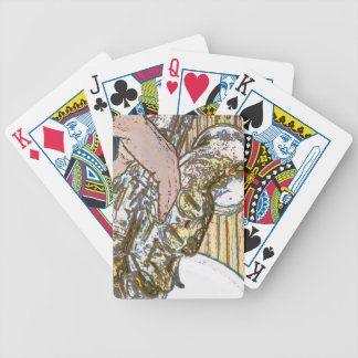 sax player posterized saxophone golden bicycle poker deck