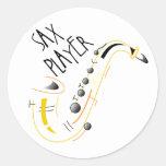 Sax Player Stickers