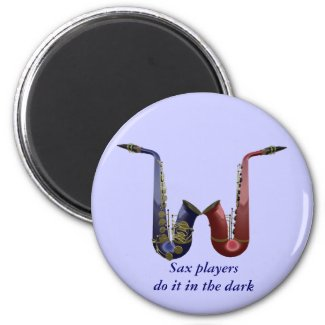 Sax Players Fridge Magnet