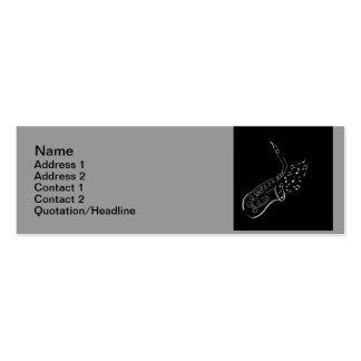 Sax playing music business card