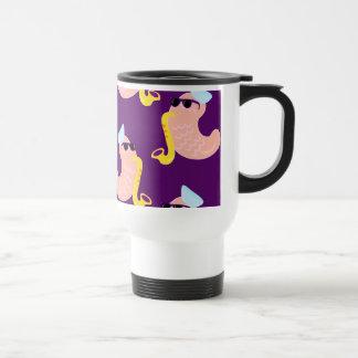 Sax Playing Shrimps Travel Mug
