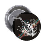 Sax Saxophone Marching Band Instrument Pinback Button