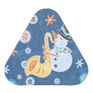 Sax Snowman Making Christmas Holiday Music Speaker