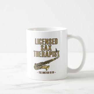 Sax Therapist Classic White Coffee Mug