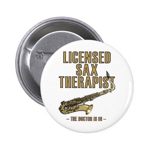 Sax Therapist Pinback Buttons