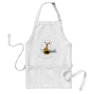 Sax with Snowman Adult Apron