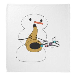 Sax with Snowman Bandana
