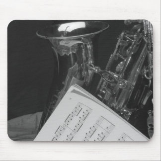 Saxaphone and Sheet Music Mouse Pad