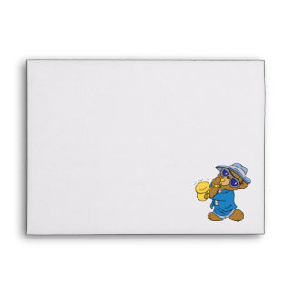 Saxaphone Jazz Blues Bear Envelope