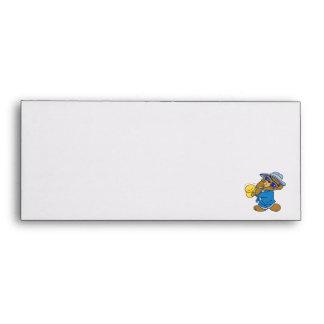 Saxaphone Jazz Blues Bear Envelopes