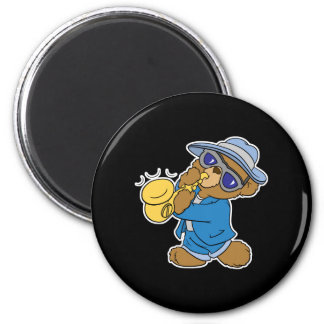 Saxaphone Jazz Blues Bear Fridge Magnets
