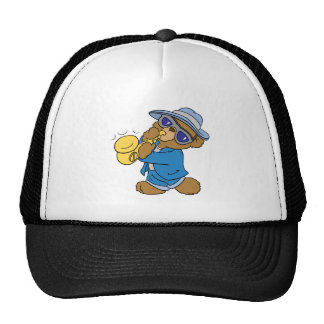 Saxaphone Jazz Blues Bear Hats
