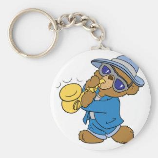 Saxaphone Jazz Blues Bear Keychains