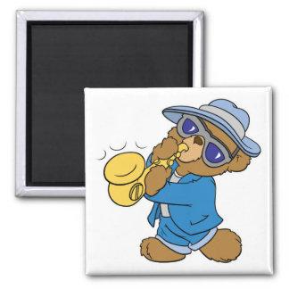Saxaphone Jazz Blues Bear Refrigerator Magnets