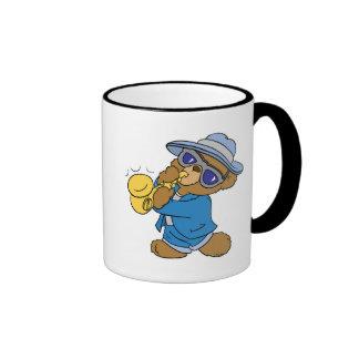 Saxaphone Jazz Blues Bear Ringer Mug