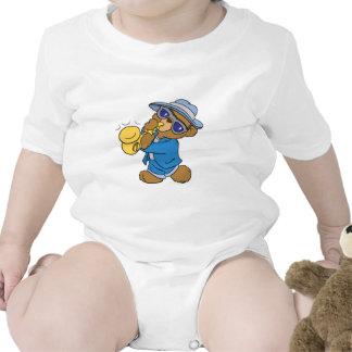 Saxaphone Jazz Blues Bear Tee Shirt